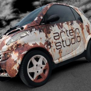 Car wrapping smart effetto ruggine