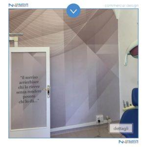 Progetto studio odontotecnico con adesivo murale
