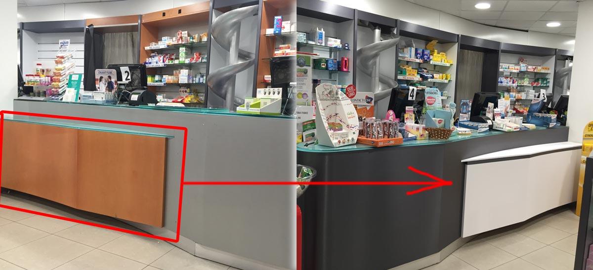 Rivestimenti adesivi per farmacie e parafarmacie