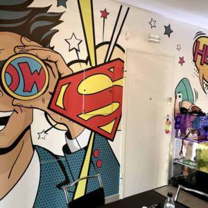 Carta da parati personalizzata fumetti superman