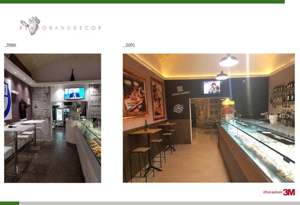 Ristrutturazione bar Taranto progetto