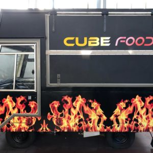 Car wrapping food truck