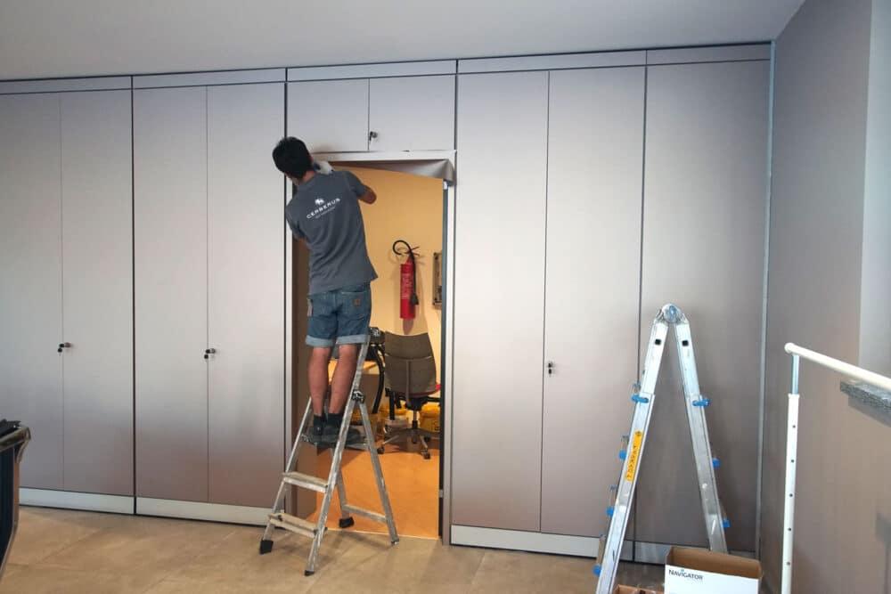 Rinnovare mobili e pareti mobili concessionaria auto con wrapping applicatori certificati e 3M DI-NOC